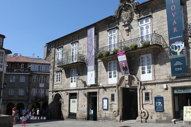 Fachada del Pazo de Bendaña, sede de la Fundación Eugenio Granell