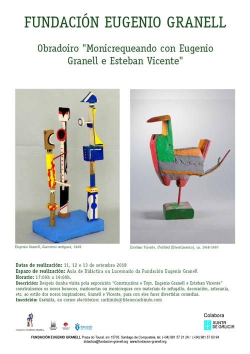 "Taller  ""Monicrequeando con Eugenio Granell e Esteban Vicente"""